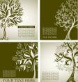decorative tree vector image vector image