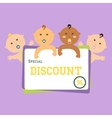 discount funny babies large banner vector image
