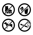 Do not icon vector image vector image