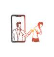 doctor online medicine stethoscope help vector image