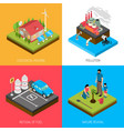ecology isometric design concept vector image