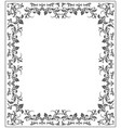 elegant frame with stylish vintage ornament vector image vector image