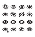 eyes icon optical care symbols eyesight vision vector image vector image