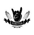 forever hand gesture horns vector image vector image