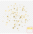 frame of gold confetti gold stars on transparent vector image