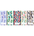 geometric abstract pattern collection various vector image vector image