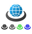 global network flat gradient icon vector image