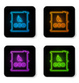 glowing neon bio fuel barrel icon isolated on vector image vector image