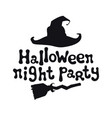 halloween night party halloween theme handdrawn vector image