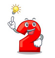 have an idea number two red isolated on mascot vector image