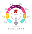 infographic layout with data flow concept and vector image vector image