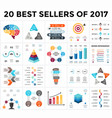 infographics set 20 best sellers of 2018 vector image vector image