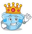 king baby diaper character cartoon vector image vector image