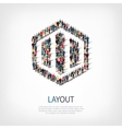 layout people sign 3d vector image