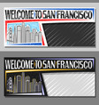 layouts for san francisco vector image