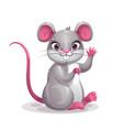 little cute cartoon gray baby mouse symbol vector image vector image