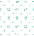 little icons pattern seamless white background vector image vector image