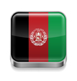 Metal icon of Afghanistan vector image vector image