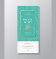 mint spice home fragrance abstract label vector image vector image