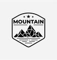 mountain with lake logo design template vector image vector image