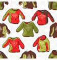 nordic christmas jumper seamless pattern vector image