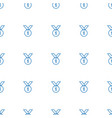 number medal icon pattern seamless white vector image vector image