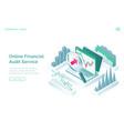 online financial audit service banner vector image vector image