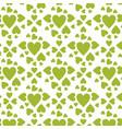 pattern green hearts vector image vector image