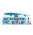people waiting bus flat vector image