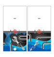 plumbing and water supply banner vector image vector image