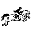 Rider show jumping vector | Price: 1 Credit (USD $1)