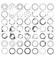 ring stamp big set vol2 vector image vector image