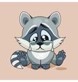 Sad Raccoon cub crying vector image vector image