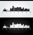 savannah usa skyline and landmarks silhouette vector image vector image