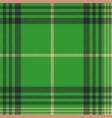 seamless plaid green tartan check fabric texture vector image vector image