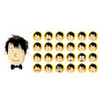 set of man head with different facial expression vector image