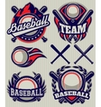 set sports template with ball and bats vector image vector image