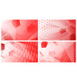 soccer backgrounds in red colors vector image vector image