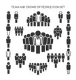 team and crowd people set vector image