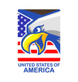 us bald eagle badge vector image vector image