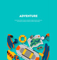 vertical banner equipment for outdoor activities vector image vector image