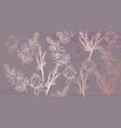 vintage boho pattern flowers line art golden vector image
