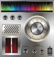 Volume knob with digital colorful equalizer vector image