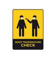 warning sign for social distancing coronavirus vector image