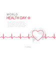 world health day 7 april concept medicine and vector image