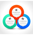 Infographics template with with three circular vector image