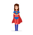 daughter superheroes super girl character vector image