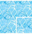 seamless background ice cubes vector image