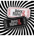 Black Friday Ticket Concept Retro styled Black vector image