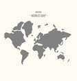 world map in trendy flat vector image